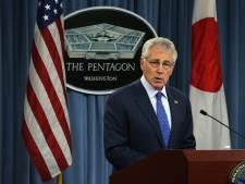 Amerikaanse minister Hagel condoleert collega Hennis