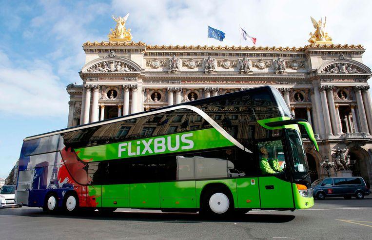 De bus van het bedrijf FlixBus vervoerde mensen tussen Parijs en Londen. (Beeld ter illustratie) Beeld AFP