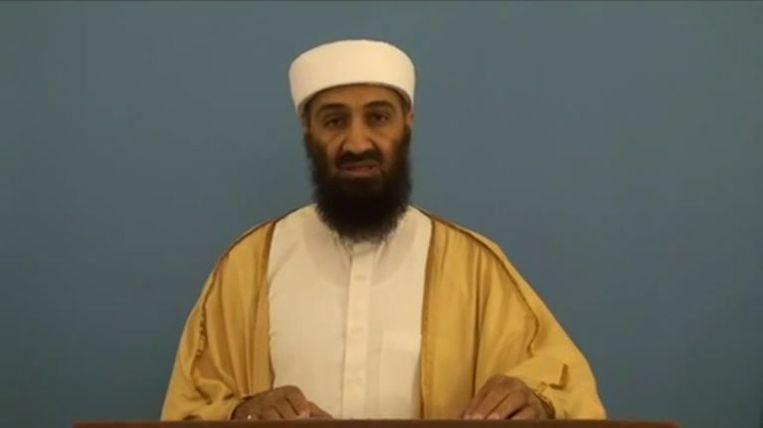 Een video waarop de CIA stuitte in het uitgebreide digitale archief van Osama bin Laden. De leider van Al Qaida oefent een toespraak die hij de wereld in wil sturen. Op de video is te zien hoe hij struikelt over zijn woorden. © AFP  Beeld EPA