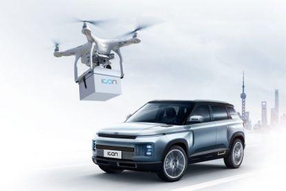 Chinese fabrikant levert sleutels van nieuwe auto's af met behulp van drones