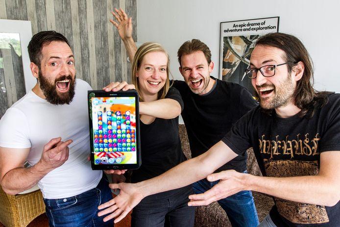 De ontwerpers van Freezm!: Carsten Altena (vlnr), Ilse Kooning, Niels Wewer en Pascal Altena.