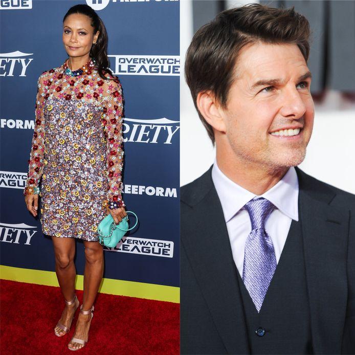 """Sur le tournage de """"Mission Impossible 2"""", Thandie Newton donnait la réplique à Tom Cruise."""