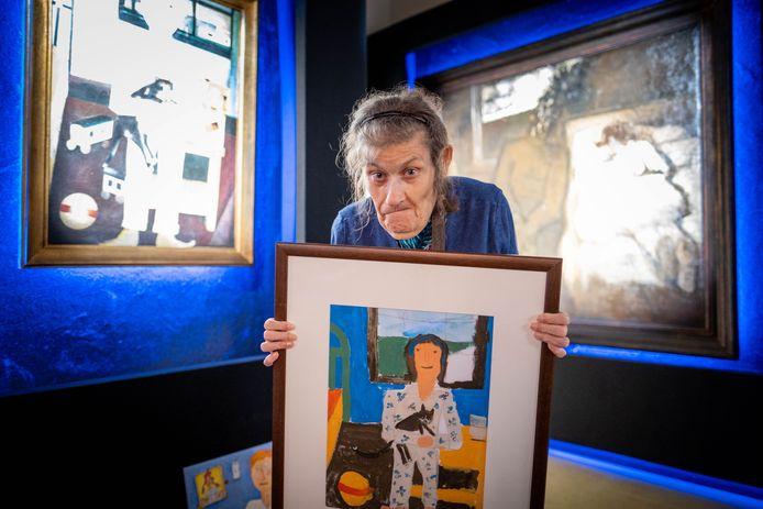 Imelda Van Eyken van Vzw Sjarabang maakte een eigen versie van een werk van Floris Jespers