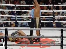 Zwaargewicht bokser Hunter maait tegenstander neer in alles of niets wedstrijd