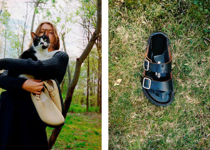 Links: de nieuwe 'Berlin'-schoen. Rechts: de nieuwe 'Milano'.