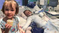 Avery (4) overwint kanker en lijkt eindelijk aan haar leven te kunnen beginnen. En dan krijgt ze plots infectie die 80 procent van haar huid verwoest