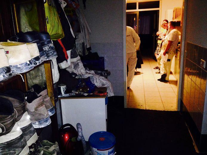 Actieteam arbeidsmigranten -dat nu is opgegaan in het PIT-team- controleert hier een woning in Helmond.