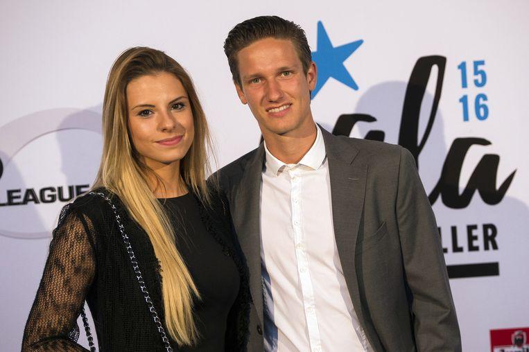 Glenn Claes en zijn vriendin Myrte.