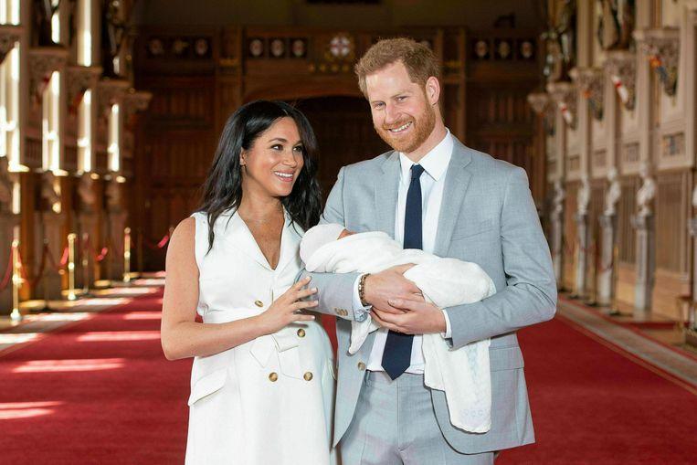 In 2019 beviel Meghan van haar eerste kind: Archie Harrison.  Beeld AP
