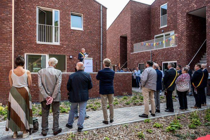 De officiële opening van Den Bergop in Waasmunster.
