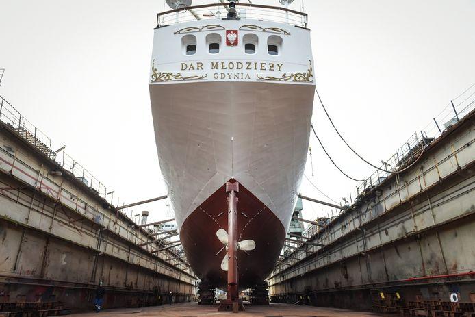 Een schip wordt gebouwd op een scheepswerf in Polen. Foto ter illustratie.