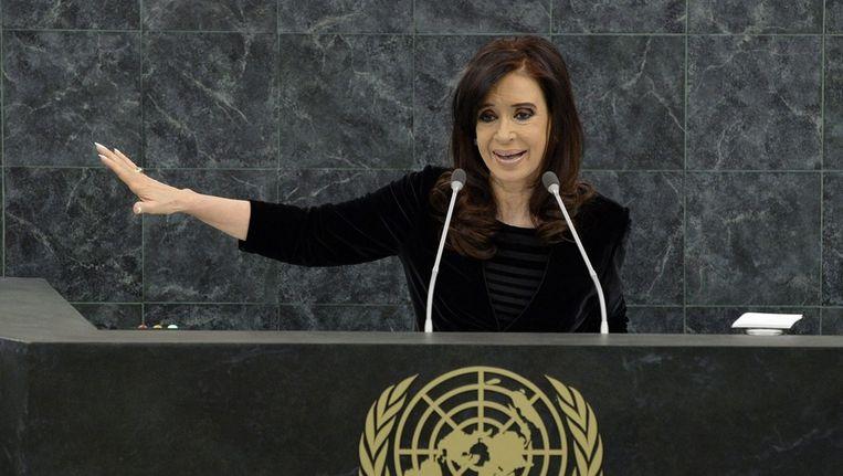 De Argentijnse president Cristina Fernández de Kirchner Beeld epa
