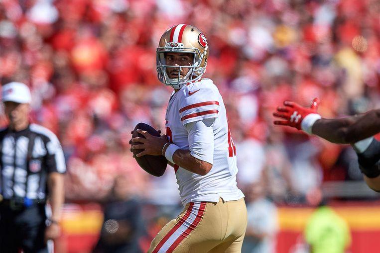 San Francisco 49ers quarterback Jimmy Garoppolo. Beeld Getty