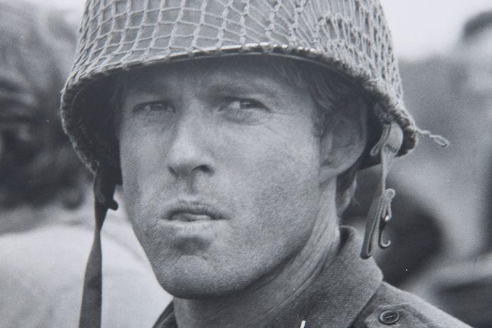 Acteur Robert Redford in 1976, ten tijde van de opnames van de oorlogsfilm A Bridge to Far.