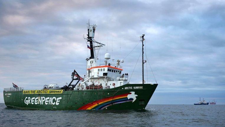 Het Greenpeace-schip de Arctic Sunrise. Beeld afp