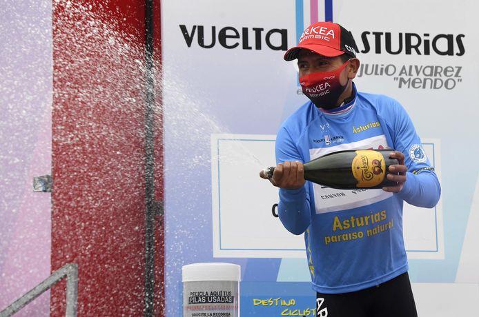 Nairo Quintana in de leiderstrui.