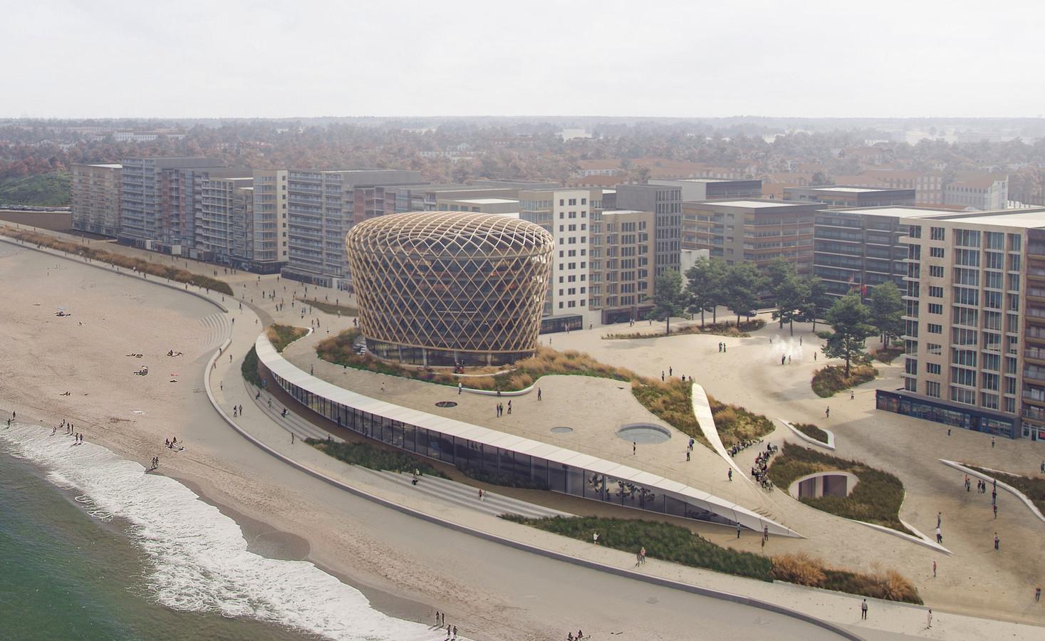 Een beeld van hoe het nieuwe casino van Middelkerke er zal uitzien.