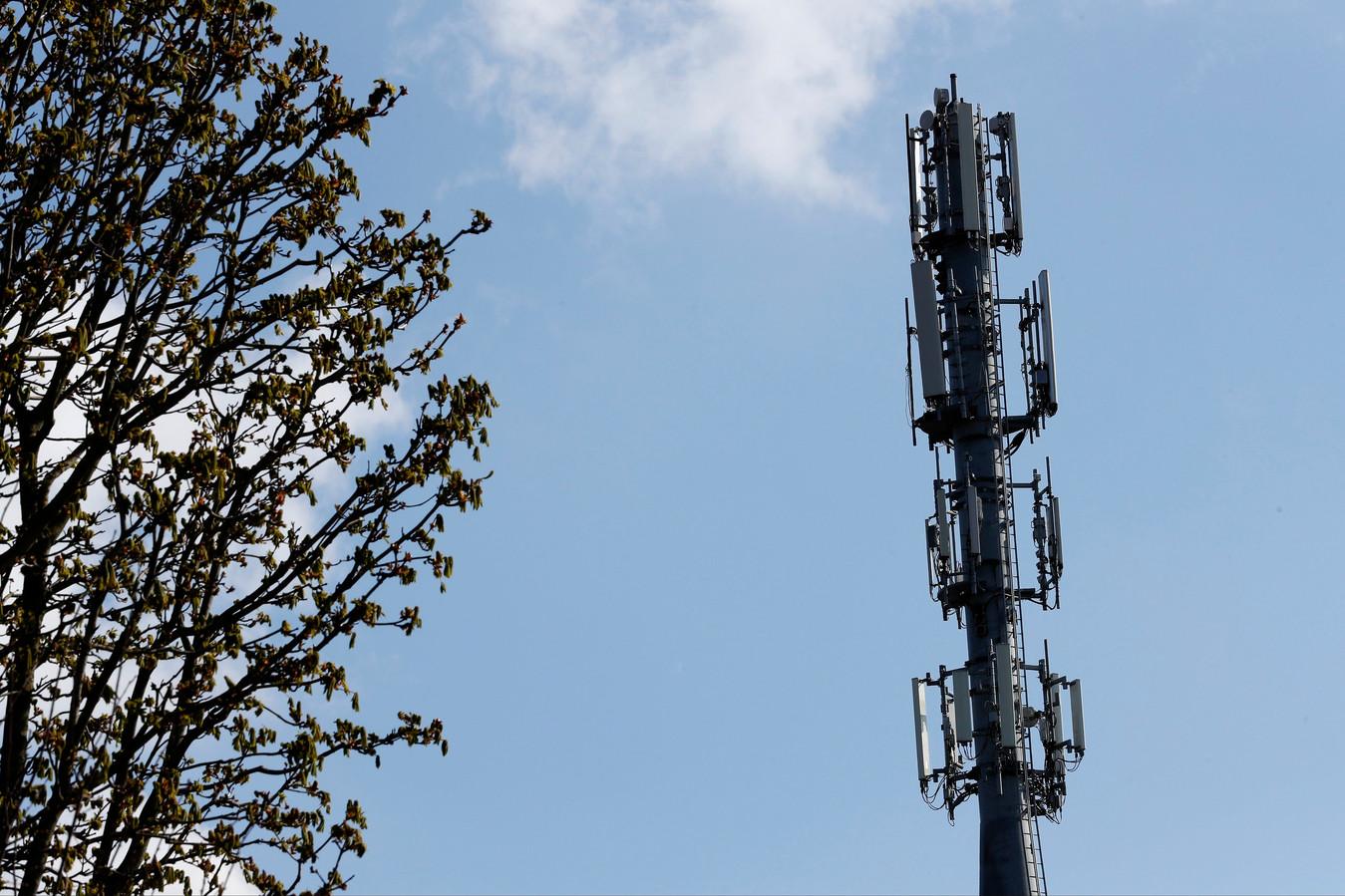 Une antenne 5G à Bruxelles.
