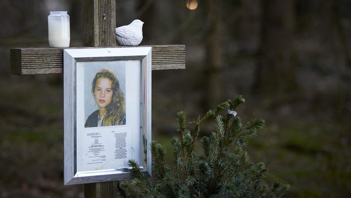 Het monument voor de vermoorde Nicole van den Hurk aan de Mierloseweg tussen Mierlo en Lierop, de plek waar haar lichaam werd gevonden in 1995