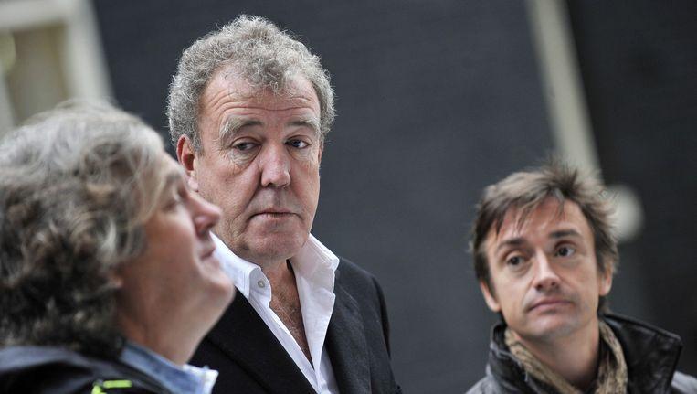 Het Top Gear-team James May (links), Jeremy Clarkson en Richard Hammond. Beeld anp