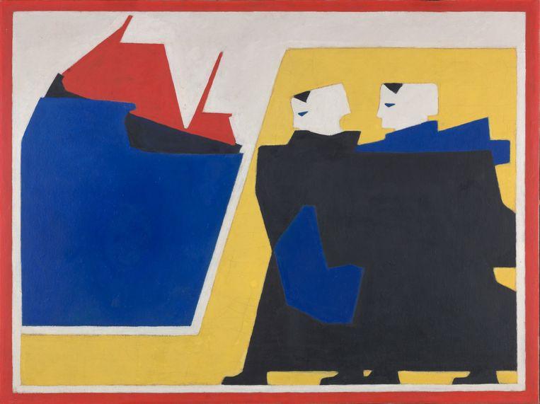 Bart van der leck, 'De Storm' (1916), te zien in Den Haag Beeld RV
