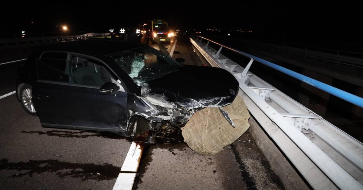 Ravage op A58 bij Krabbendijke door ongeval.
