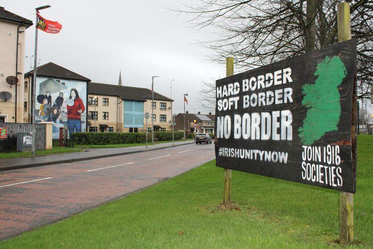 De katholieke wijk Bogside in Londonderry. Beeld arjen van der Horst