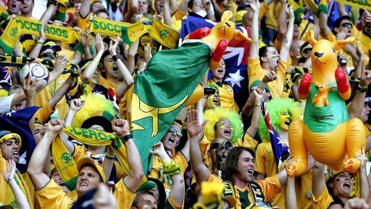 Australische fans tijdens het WK Beeld ANP
