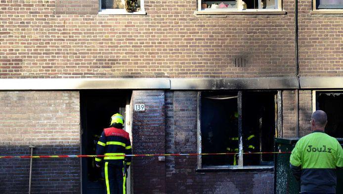 Flinke schade aan diverse woningen in de Haagse Hortensiastraat.