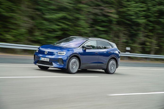 De aanstaande Volkswagen ID.4, hier nog voorzien van lichte 'camouflage'