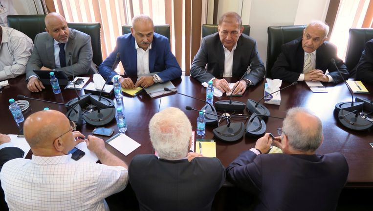 Leden van de Syrische oppositie. Beeld reuters