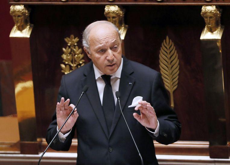 De Franse minister Fabius van Buitenlandse Zaken. Beeld afp