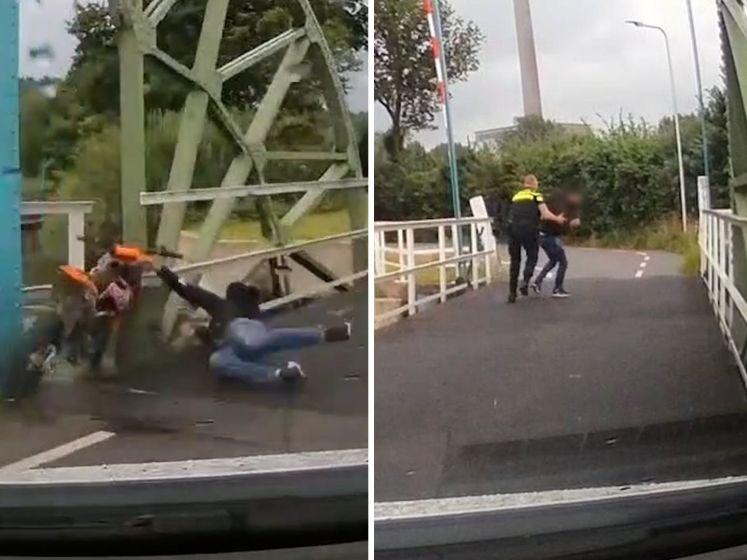 Spectaculaire beelden: politie achtervolgt crossmotor in Utrecht