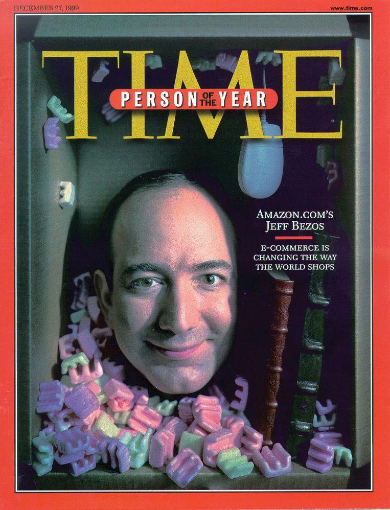 Jeff Bezos op de cover van 'Time' in 1999. Beeld rv