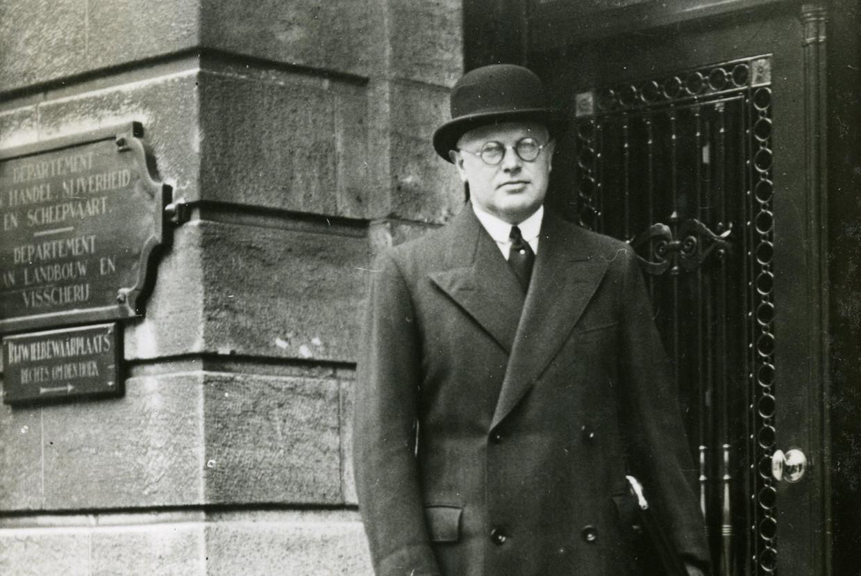 KVP-politicus Carl Romme, de nieuwe minister van sociale zaken, in 1937.  Beeld Hollandse Hoogte/ANP