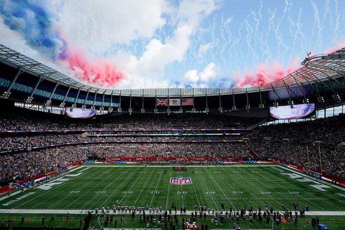 Het stadion van Tottenham Hotspur voor het duel tussen Atlanta Falcons en New York Jets.