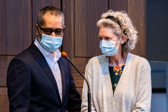 Jean-Claude Lacote en Hilde Van Acker tijdens hun proces.