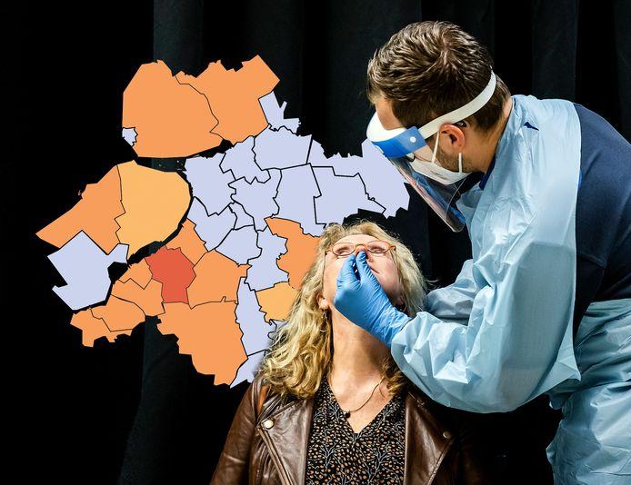 Nunspeet blijft de uitschieter in Oost-Nederland, al is de situatie vandaag wel minder slecht dan gisteren.