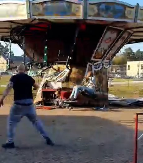 Roy knapte 100 jaar oude zweefmolen zelf op, vandaag viel de attractie bijna uit elkaar: 'Gelukkig is niemand gewond geraakt'