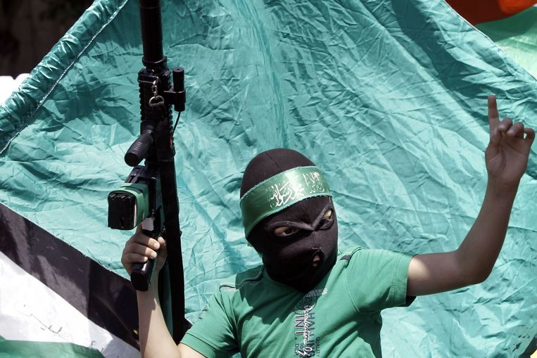 Demonstratie in Nablus, Westelijke Jordaanoever, augustus 2014. Beeld AFP