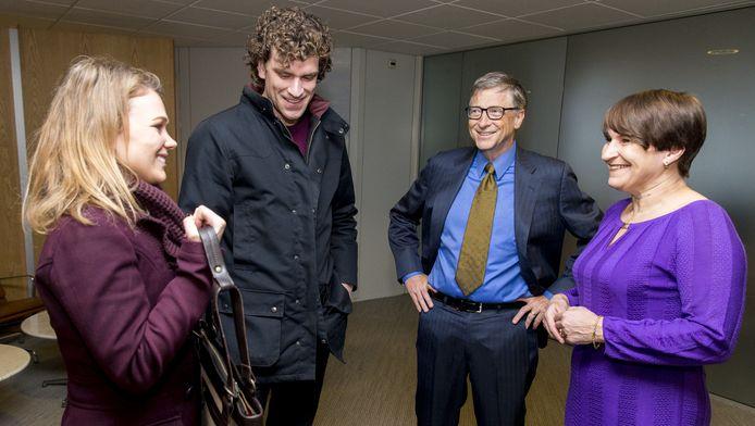 Rik en Rosanne bij Bill Gates en minister Ploumen