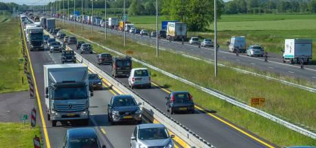 A50 tussen Heerde en Vaassen na de vakantie flink op de schop, tot eind van het jaar oponthoud