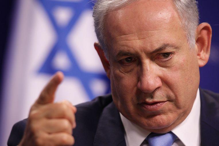 De Israëlische eerste minister Benjamin Netanyahu.