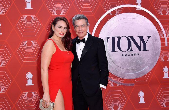 Peter Gallagher e sua figlia Catherine Gallagher