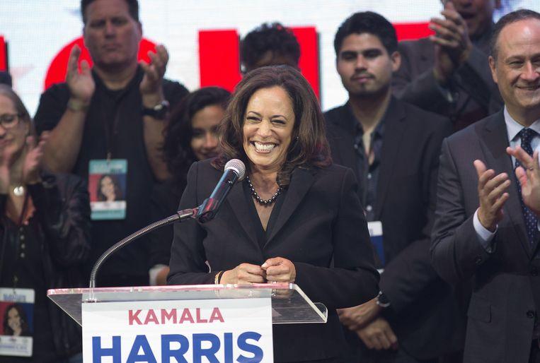 'Ze is niet onomstreden bij de zwarte kiezers, sinds ze als procureur-generaal in Californië een plan tegen spijbelen ontwikkelde: ouders konden naar de gevangenis worden gestuurd als ze hun kinderen niet in toom hielden.' Beeld EFE