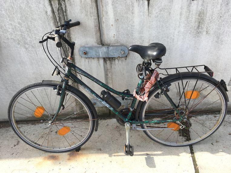 Eén van de 45 fietsen die te koop staan.