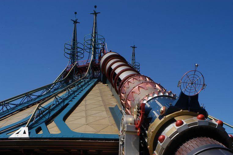 Het zogezegde kanon Columbiad van 'Space Mountain' in Disneyland Paris. Beeld Disney