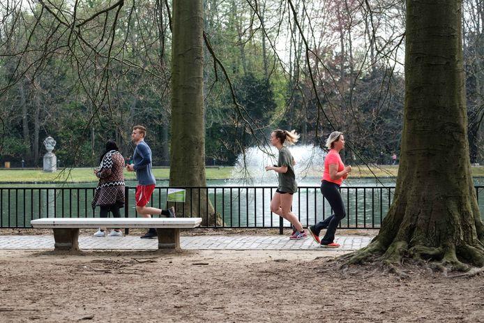 Park Rivierenhof tijdens het paasweekend.