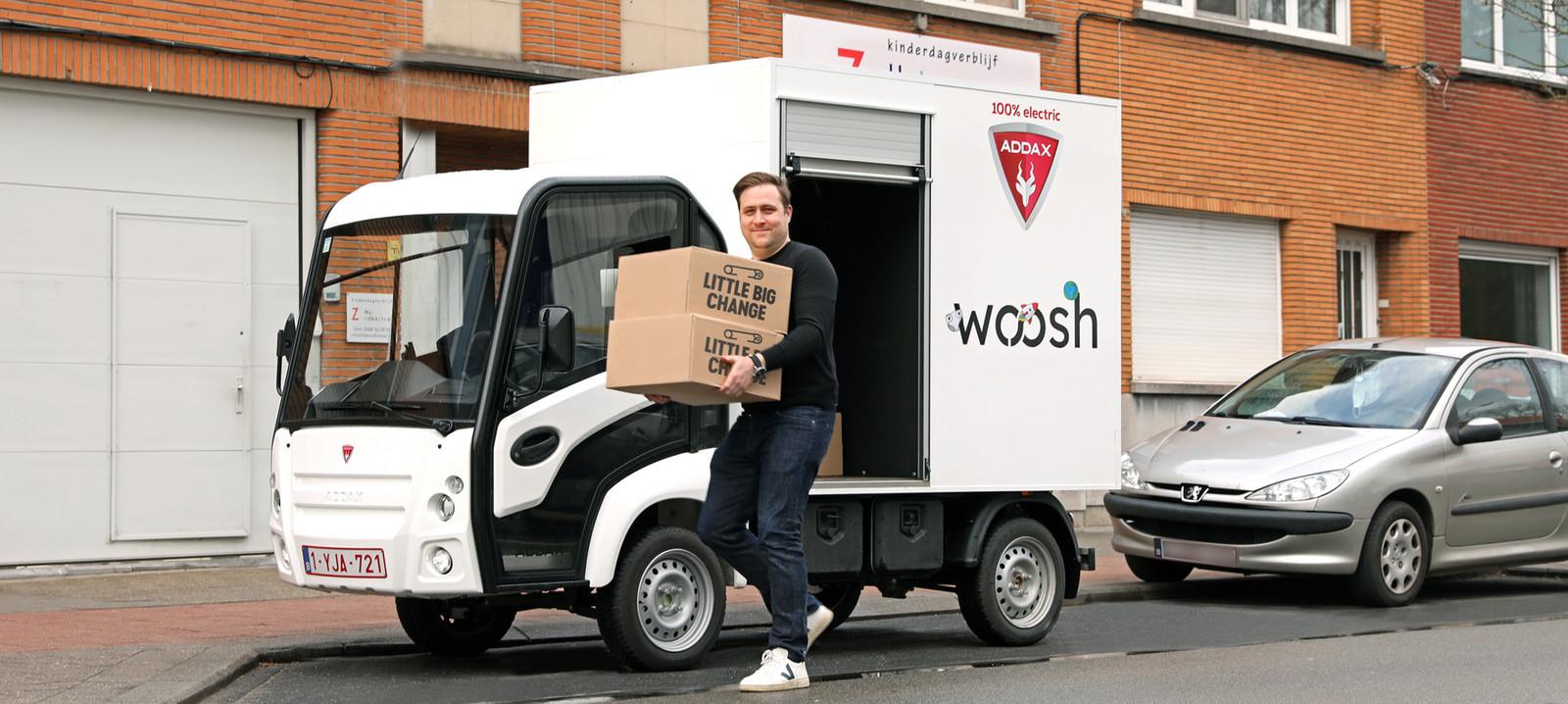Woosh s'est associé à la marque de couches jetables Little Big Change.