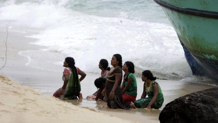 Archieffoto: migranten uit Sri Lanka op weg naar Australië strandden in Indonesië. Beeld afp